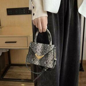 VIVA | Snakeskin Flap Satchel Bag